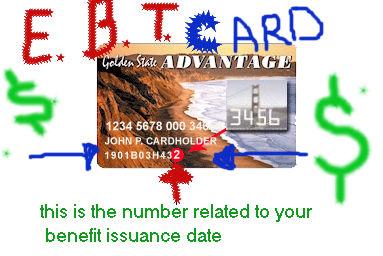 Case Number On Food Stamp Card