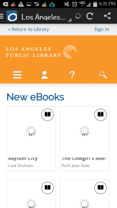how to search the library for new books