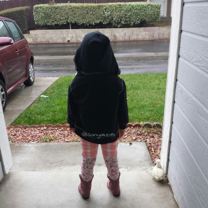 child in hoodie , no skittles