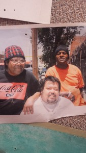 Tommie, Carl and Donald on Stanford Avenue  - part of Los Angeles's Skid Row