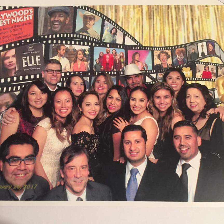 Mend staff on Oscar night at universal stidios