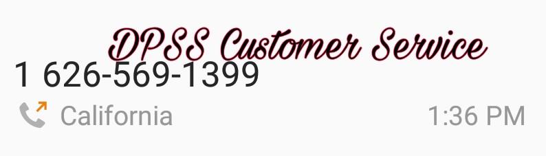 DPSS Customer Service…